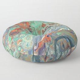 """Caribbean Coast"" by Laurie Ann Hunter Floor Pillow"