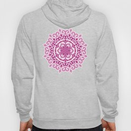Pink Mandala on Baby Pink Background Hoody