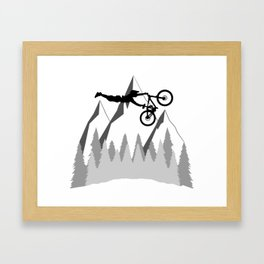 MTB Superman Framed Art Print