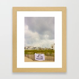 You Are My Vacay, Silk Graffiti by Aubrie Costello Framed Art Print