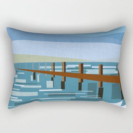 LOOKING AT THE SEA (abstract) Rectangular Pillow
