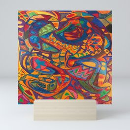 Sea Dog in a Colorful Sea Mini Art Print