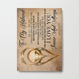 Husband TO MY HUSBAND Metal Print