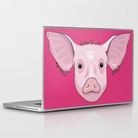 pig Laptop & iPad Skins featuring Pig by Compassion Collective