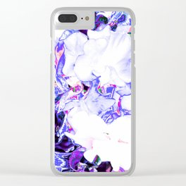 SWEETPEA BLUE/WHITE Clear iPhone Case