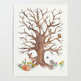Fingerprint Tree Poster