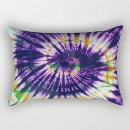 Tie Dye Purple Play Rectangular Pillow