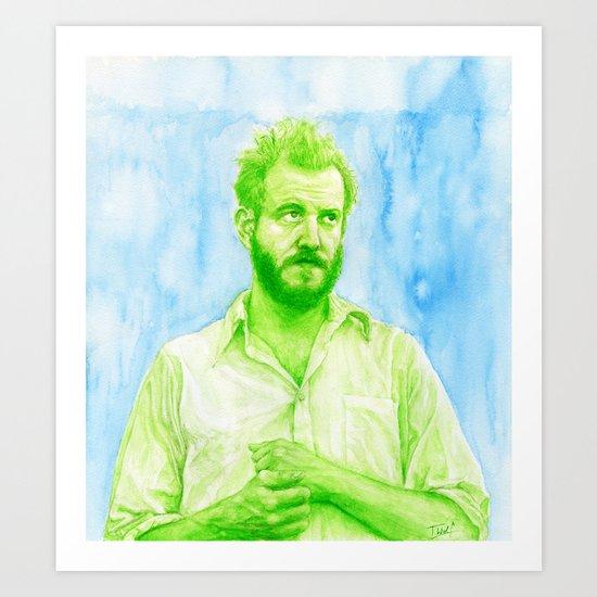 "Justin Vernon ""Bon Iver"" Art Print"