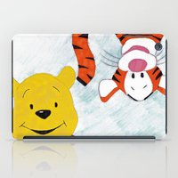 winnie the pooh iPad Cases featuring winnie the pooh and tigger by Art_By_Sarah