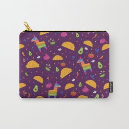 Taco Fiesta in Purple Carry-All Pouch