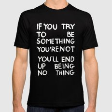 BEING NOTHING 2 Mens Fitted Tee Black MEDIUM