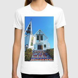 Easter Colored Church Steps T-shirt