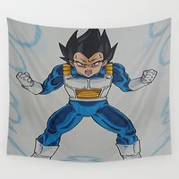 vegeta Wall Tapestries featuring Prince Vegeta by bmeow