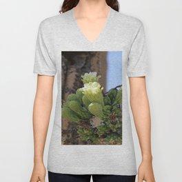 Saguaro Cacti Blossoms Unisex V-Neck