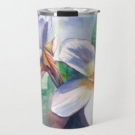 Tropical Plumeria Flowers Travel Mug