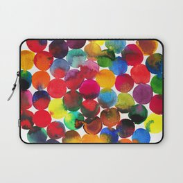 Colored Circles in watercolor Laptop Sleeve