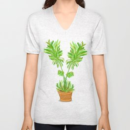 Potted Palm Unisex V-Neck