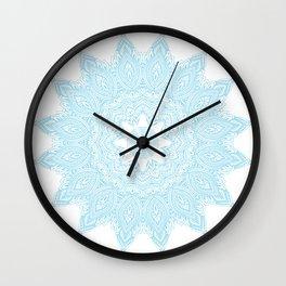 Moonlight Blue Mandala Bohemian Decor Medallion Wall Clock