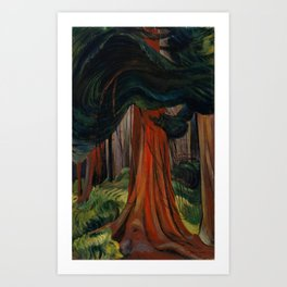 Emily Carr - Red Cedar - Canada, Canadian Oil Painting - Group of Seven Art Print