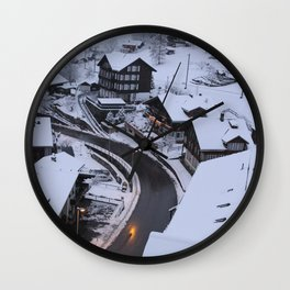 Wintery Grindelwald Wall Clock