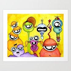 Aliem Friends Art Print