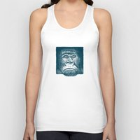 gorilla Tank Tops featuring Gorilla by Lara Trimming