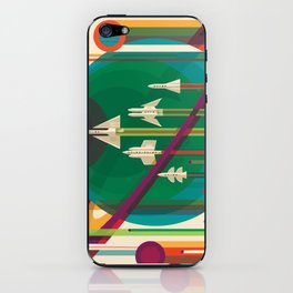 Space Ships Pop Art Vintage iPhone Skin