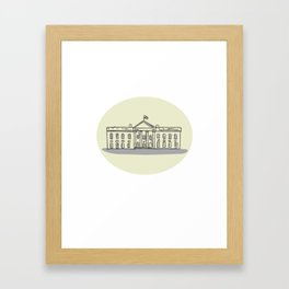 White House Building Oval Drawing Framed Art Print