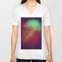 pixel V-neck T-shirts featuring Jelly Pixel by Katie Troisi
