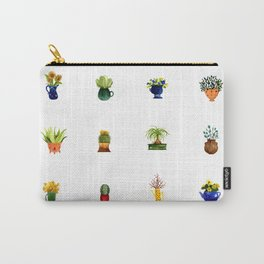 watercolor house plants Carry-All Pouch