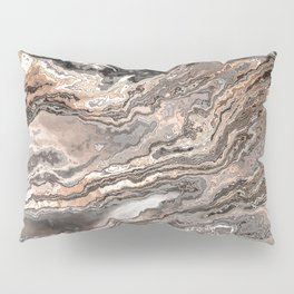 Brown Marble Texture Pillow Sham