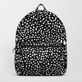 Little wild cheetah spots animal print neutral home trend monochrome black and white Backpack