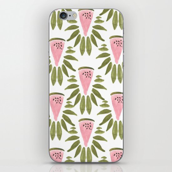 Watermelon and Leaves iPhone & iPod Skin