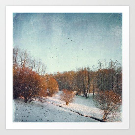 Trees in Winter II Art Print