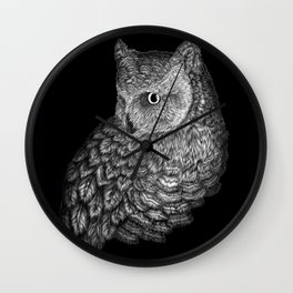 A Friend for Forsythe in Black Wall Clock
