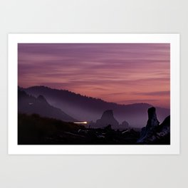 Gold Beach Sunset Art Print