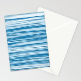 Blue Soft Focus Motion Watercolor Blend Stripes Rustoleum Satin Lagoon Stationery Cards