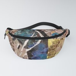 """"""" Peacock Hole Punch Art """" Fanny Pack"""