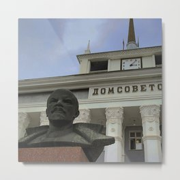 Lenin watches over Transnistria Metal Print
