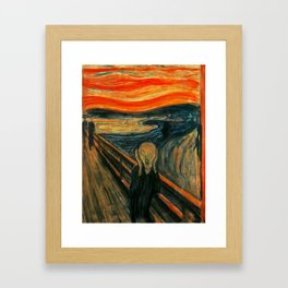 The Scream Edvard Munch Framed Art Print