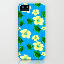 Yellow Hibiscus Hawaiian Pattern iPhone Case