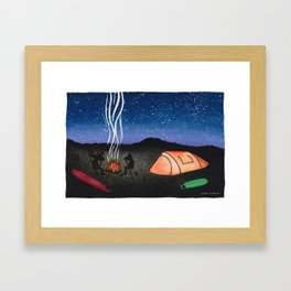 Camping Out Framed Art Print