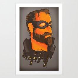 THE CITY HERO Art Print