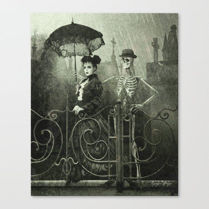 Dark Victorian Portrait: Lady Charlotte Nightshade and her Attendant Canvas Print