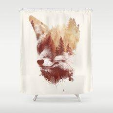 Blind fox Shower Curtain