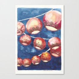 Chinese Lanterns Canvas Print
