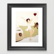 pin up Framed Art Print