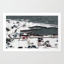 Winter in Neil's Harbour Art Print