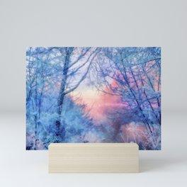 Winter evening Mini Art Print