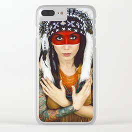 Indian Clear iPhone Case